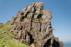 斯凯利格・迈克尔岛,联合国科教文组织世界遗产名录站点,凯利,爱尔兰 星际大战在这个海岛上唤醒场面摄制的力量 免版税图库摄影