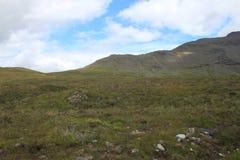 斯凯岛小岛的草甸  库存照片