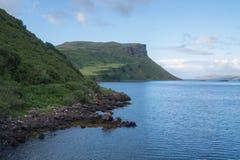 斯凯岛,苏格兰小岛海岸线  免版税库存照片
