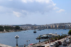 斯利马江边,马耳他 免版税图库摄影