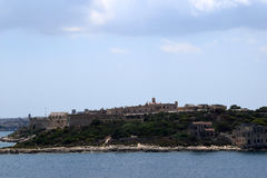 斯利马江边,马耳他 免版税库存照片