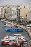 斯利马,马耳他港。 库存图片