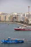 斯利马,马耳他港。 免版税库存图片
