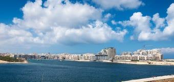 斯利马- La瓦莱塔-马耳他 免版税图库摄影