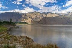 斯卡都村庄风景在夏天,基尔吉特,巴基斯坦 免版税库存照片