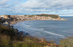 斯卡巴勒北约克郡英国英国海边游人目的地 免版税图库摄影