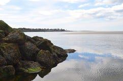 斯卡巴勒海滩 缅因 免版税库存照片