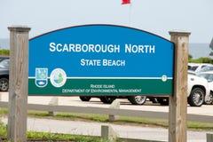 斯卡巴勒海滩- Narragansett -罗德岛州 库存图片