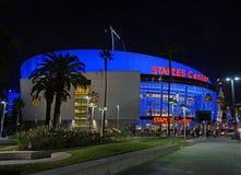斯台普斯中心在洛杉矶,加州 免版税库存图片