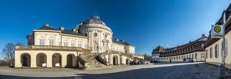 斯图加特,德国- 2018年2月19日:城堡孑然是修造由菲利普de La Guepiere 库存图片