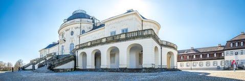 斯图加特,德国- 2018年2月19日:城堡孑然是修造由菲利普de La Guepiere 免版税库存照片