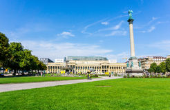 斯图加特,德国- 2016年9月15日:Schlossplatz是家神 库存图片
