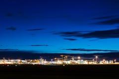 斯图加特(德国) -广角射击机场终端  免版税库存图片