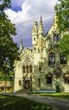 斯图尔扎城堡在Miclauseni罗马尼亚 库存图片