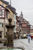 斯坦上午莱茵瑞士 免版税库存图片