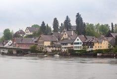 斯坦上午莱茵瑞士 库存照片
