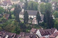 斯坦上午莱茵瑞士 免版税库存照片