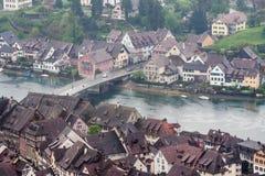 斯坦上午莱茵瑞士 免版税图库摄影