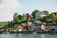 斯坦上午莱茵,瑞士, 图库摄影