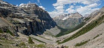 斯坦利冰川谷在库特尼国家公园 免版税图库摄影