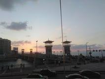 斯坦利桥梁美好的日落  免版税库存照片