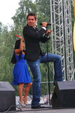 斯坦尼斯拉夫Piatrasovich Piekha (Stas Piekha) —是俄国普遍的歌手和演员和Edita Piekha的孙子 图库摄影