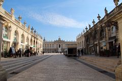 斯坦尼斯拉斯广场在南希,法国 免版税库存图片