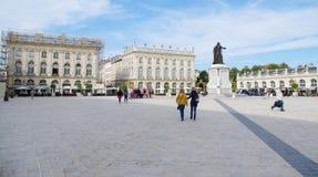 斯坦尼斯拉斯广场(斯坦尼斯拉斯广场)南希,法国 免版税库存图片