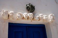 斯坦帕利亚岛镇,斯坦帕利亚岛海岛,希腊 免版税库存照片