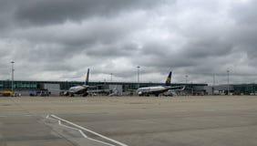 斯坦斯特德机场,英国 2018?6?14? 两瑞安航空公司 免版税库存图片