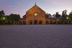 斯坦福纪念品教会 库存图片