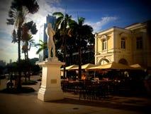 斯坦福・莱佛士雕象,新加坡 库存照片