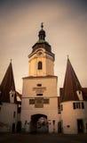 斯坦纳突岩在Krems奥地利 免版税库存照片