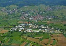 斯坦贝奇Baden-Baden,空中 免版税库存图片