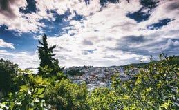 斯基亚索斯岛镇在希腊 库存照片