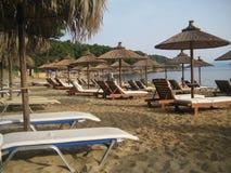 斯基亚索斯岛海滩 免版税图库摄影