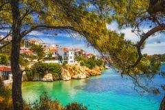 斯基亚索斯岛老镇,希腊 库存图片