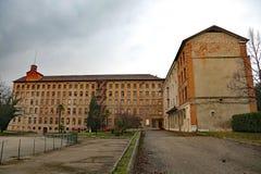 斯基奥, VI,意大利- 2016年3月6日:告诉的企业的老工厂 库存图片