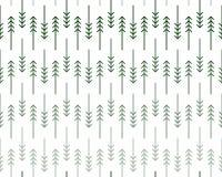 斯堪的纳维亚之字形冷杉和杉树样式 免版税库存照片