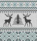 斯堪的纳维亚冬天装饰品 Cristmas无缝的被编织的样式 免版税图库摄影