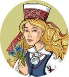 斯堪的纳维亚女孩 免版税库存图片