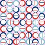 斯堪的纳维亚无缝的纹理圆 免版税库存照片
