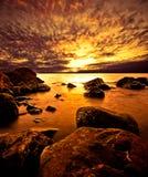斯堪的纳维亚海岸线 图库摄影
