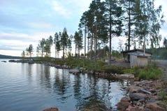 斯堪的那维亚的湖 库存图片