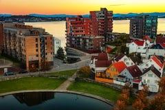 斯塔万格在挪威 库存图片