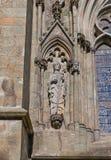 斯塔万格大教堂,挪威圣斯威森雕塑  免版税库存图片