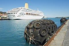 斯塔万格巡航港口的外部在斯塔万格,挪威 库存图片