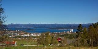 斯塔万格市和周围,罗加兰,挪威地平线  库存照片