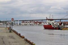 斯塔万格市桥梁,挪威,欧洲 库存照片