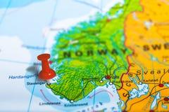 斯塔万格挪威地图 库存照片